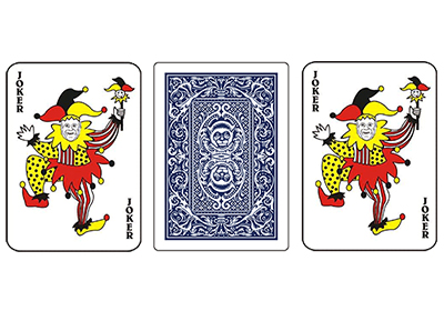 3 Playing cards.