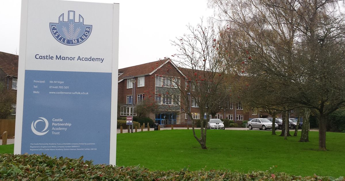 The logo of Castle Manor Academy, Haverhill Suffolk.