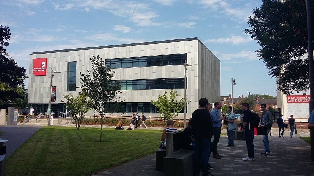 Photo of the Beacon building at Staffordshire University.